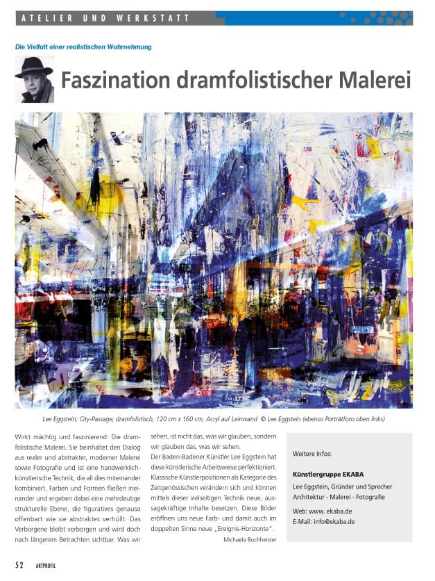Artikel Dramfolismus von ART Profil Magazin