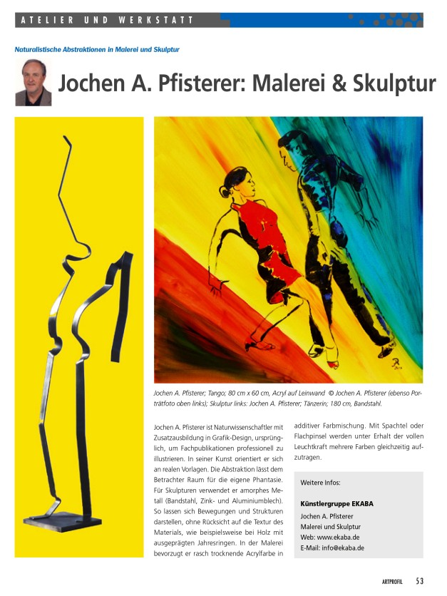 Pfisterer Artikel ART PROFIL MAGAZIN