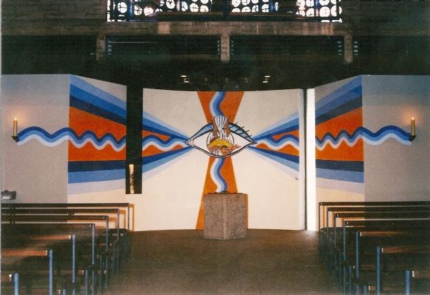 Entwurf und Gestaltung Taufraum Kirche Niederbühl