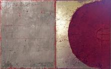 Rot-Silber_80 x 40 cm