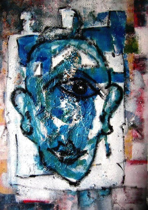 helga kalkbrenner Titel  Einblick Technik  Acryl auf Pappe Format 70 x 100