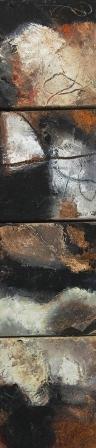 Komposition  10.044 - Mischtechnik auf Leinwand 4x20x20-2