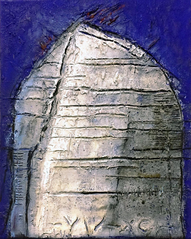 Rudi Eckerle EC15-28 Mixed Media auf Leinwand 50 x 60 cm