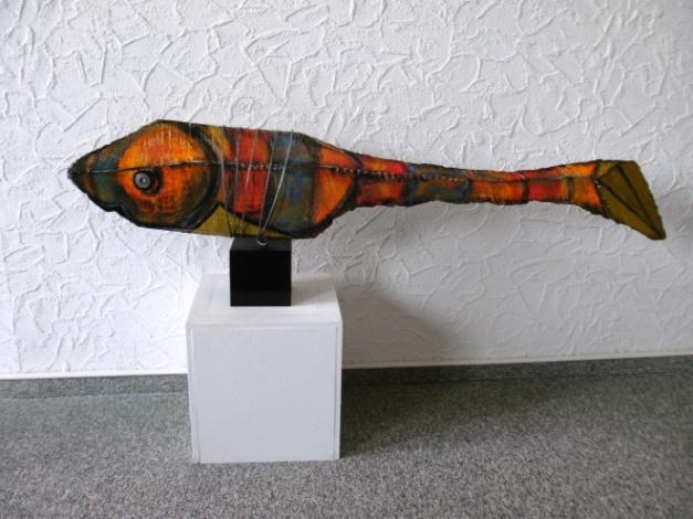 ARTfisch Buchenholz bemalt