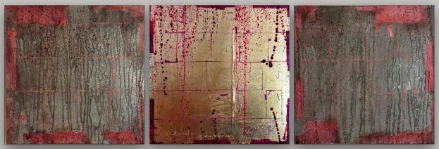 triptichon-mixed-media-blattgold-blattsilber-3-x-40-x-40-cm