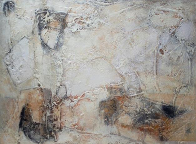 Petra Lorch - Komposition 10.026 - Mischtechnik auf Leinwand - 90x120-1