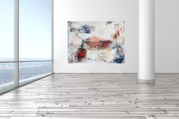Raum leer hell modern mit Holzboden
