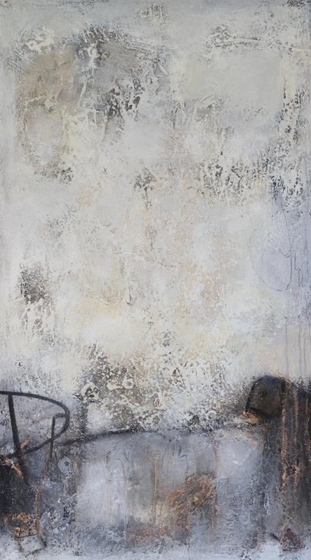 Lorch Petra -Komposition 10.094 - 80x140 - Mischtechnik auf Leinwand - 2 - IMG_3109