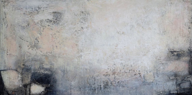 Komposition 9.134 - Mischtechnik auf Leinwand - 140x70 - IMG_3958