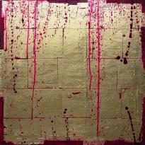 11-29 Mixed Media Blattgold Leinwand 40 x 40 cm