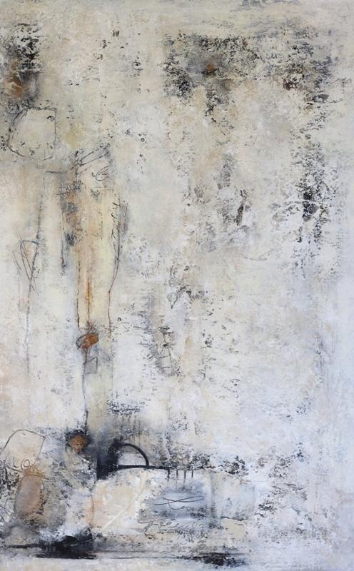 LORCH PETRA - Komposition 10.118 - 90x140 - Mischtechnik auf Leinwand