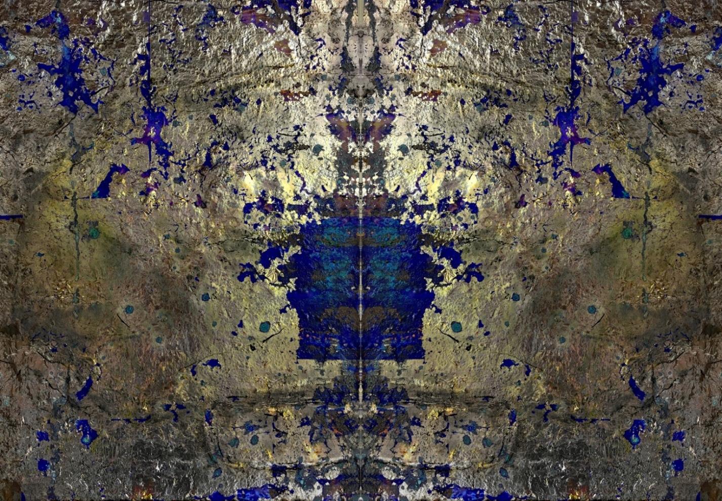 Blattsilber blau gespiegelt