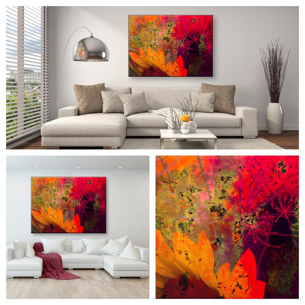 Wohnen Sonnenblume Collage