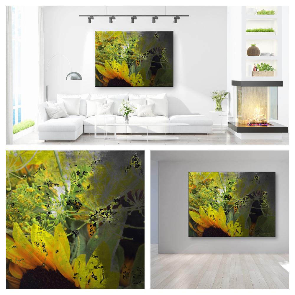 Wohnraum Sonnenblume Collage 1