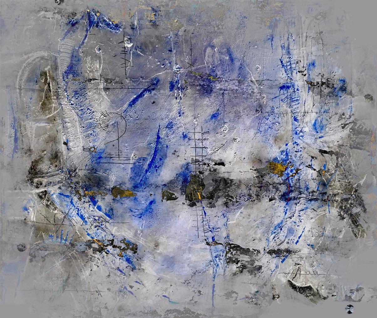 Rudi Eckerle EC01-19 Mixed Media auf Leinwand 120 x 100 cm-3