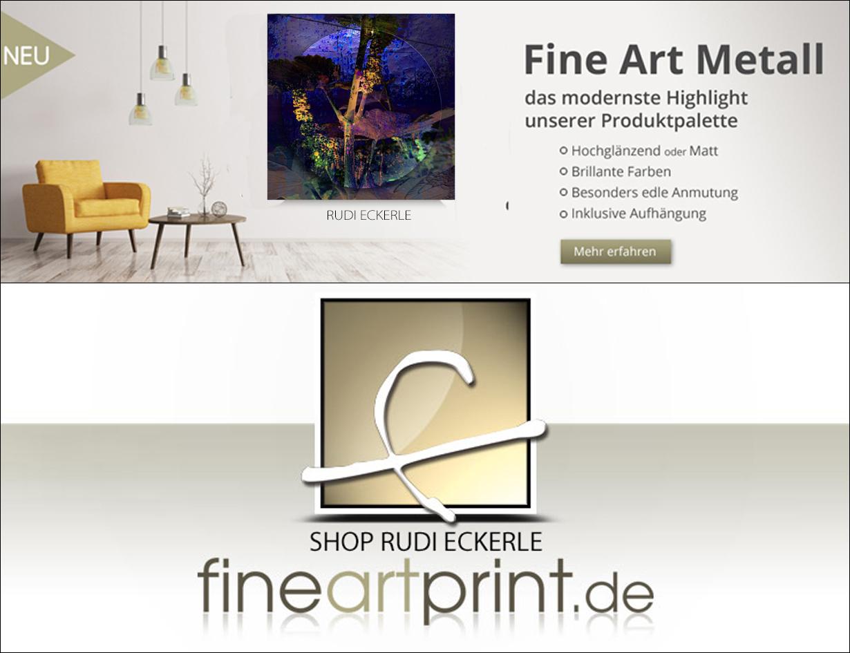 Fine Art Metall + Logo Rudi 1